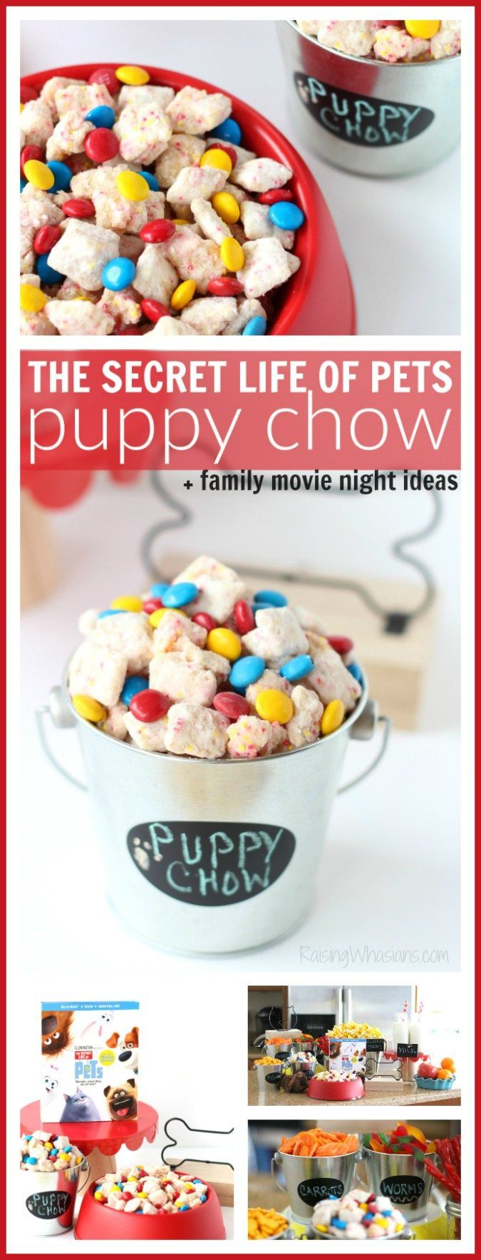 The Secret Life of Pets Puppy Chow + Family Movie Night Ideas | Ideas to host your own The Secret Life of Pets Movie Party at Home – Raising Whasians #TheSecretLifeOfPets #PetsPack #ad
