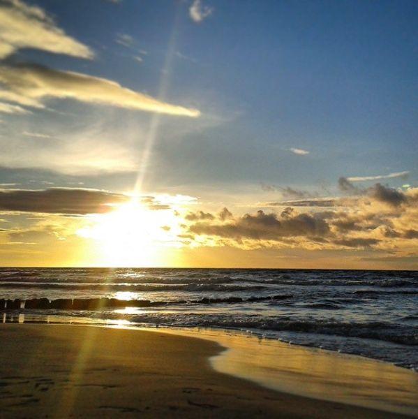 Poland, Leba - Baltic Sea, sunset. really lovely view <3 Zachód słońca w Łebie
