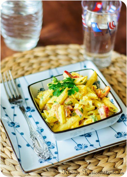 Fruchtiger Nudelsalat mit Curry-Sauce   Kleiner Kuriositätenladen