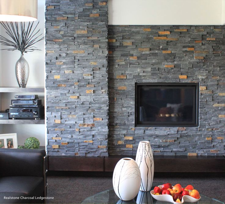 27 best stone veneer for fireplace images on pinterest for Stone around fireplace