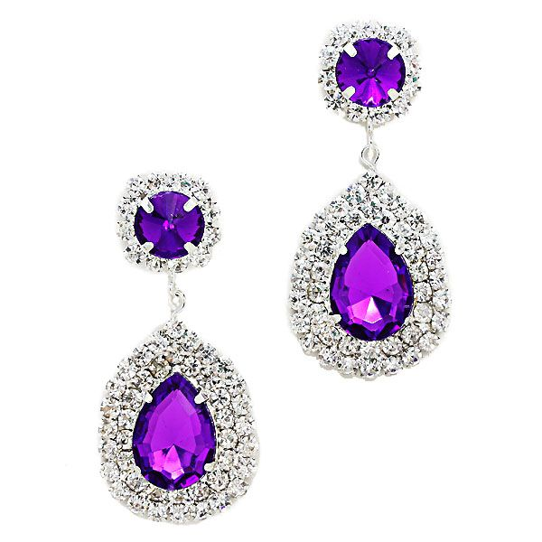 Purple teardrop diamante earrings £8.99 from Glitzy Glamour