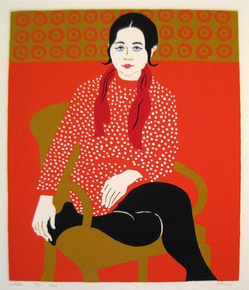 Natalie. Silkscreen by Phyllis Sloane
