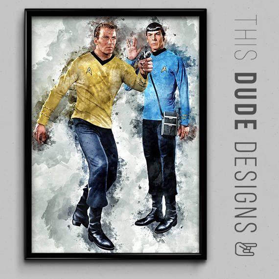 Check out Star Trek Captain Kirk and Spock TV Show Art Original Digital Poster - William Shatner & Leonard Nimoy Made with lots of love! ❤️  https://www.etsy.com/listing/535872511/star-trek-captain-kirk-and-spock-tv-show?utm_source=crowdfire&utm_medium=api&utm_campaign=api
