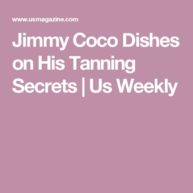Jimmy Coco Dishes on His Tanning Secrets | Us Weekly