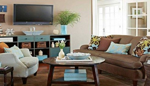 30 best accent colors for my brown couch images on Cute Ways to Make Your Room Look Small Rooms Look Bigger to Painting