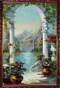 Райский уголок на побережье - Средиземноморье <- Картины маслом <- Картины - Каталог | Универсальный интернет-магазин подарков и сувениров