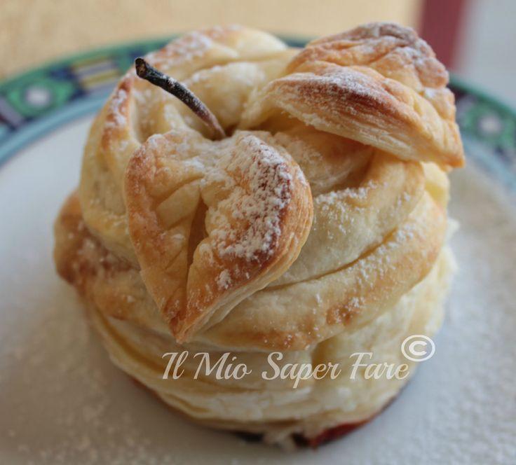 Mele ripiene di nutella in pasta sfoglia | filled apple blog il mio saper fare