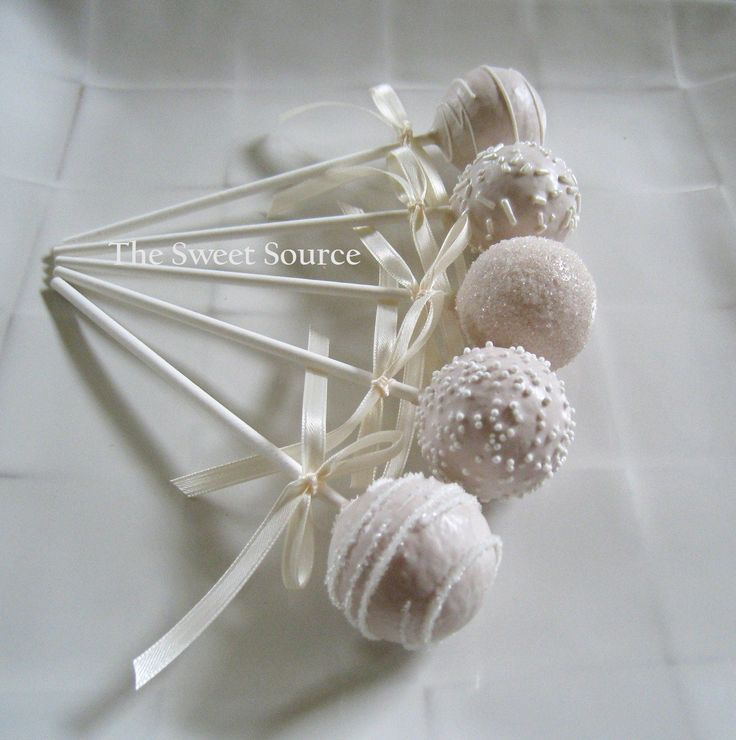 Cake Pops: Wedding Cake Pops Made to Order with High Quality Ingredients. $22.00, via Etsy.