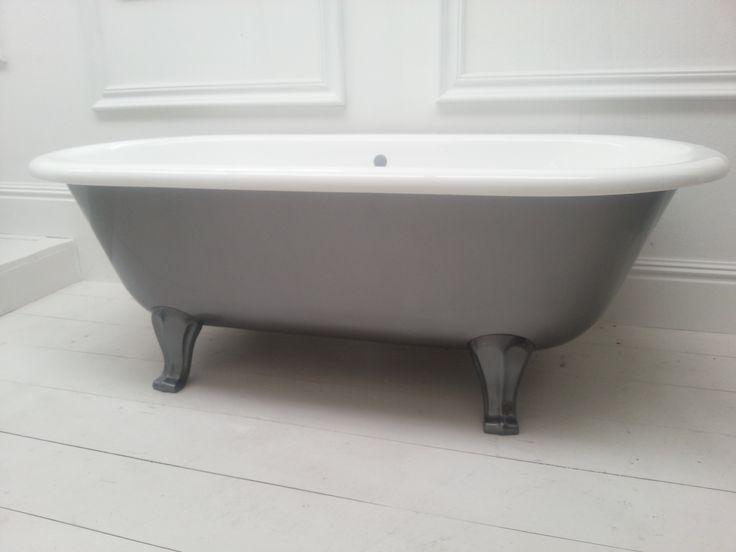 Classique bath on Art Deco feet with lead effect paint finish.