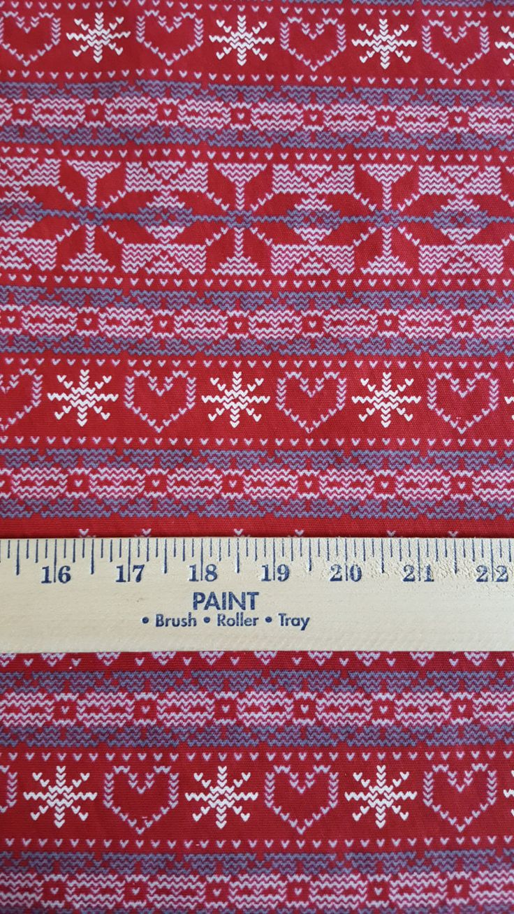 Fair Isle Pattern on Cotton jersey Knit FAbric by funkaliciousfabrics on Etsy
