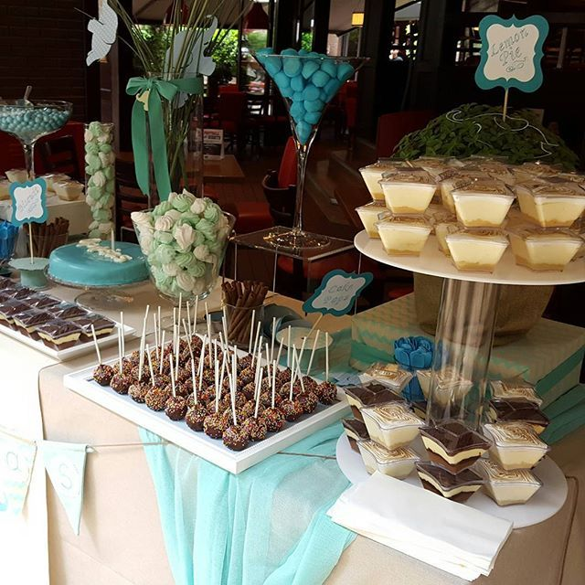 #MiniDreamers #candy #bar #baptism #celebrate #cake_pops #handmade #baby#elephant_theme#aqua_colour #party