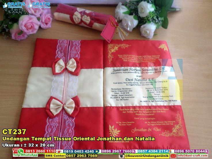 Undangan Tempat Tissue Oriental Jonathan Dan Natalia | Souvenir Pernikahan