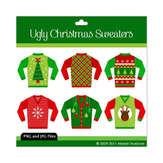 Christmas Sweaters  Sweaters Clipart  Ugly Christmas Sweaters  ClipsUgly Christmas Sweaters Clipart
