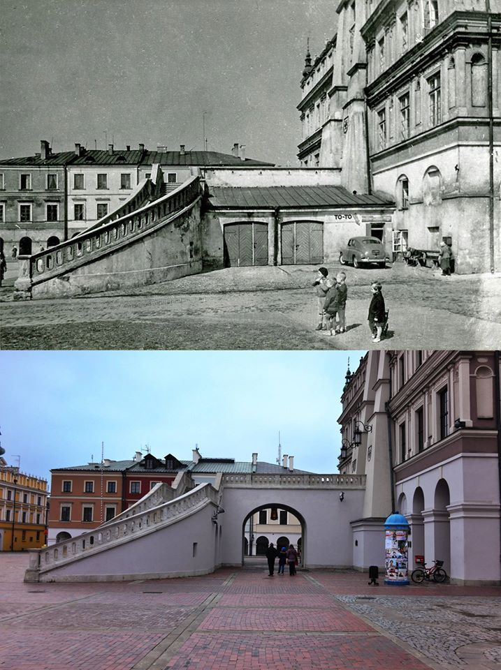 Rynek Wielki....''Kiedyś i dziś'' - Zamość [str facebook]
