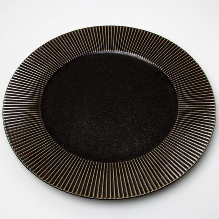 Shinogi Plate 27.5cm Manganese & 9 best Plates | Large 24cm- (9.4