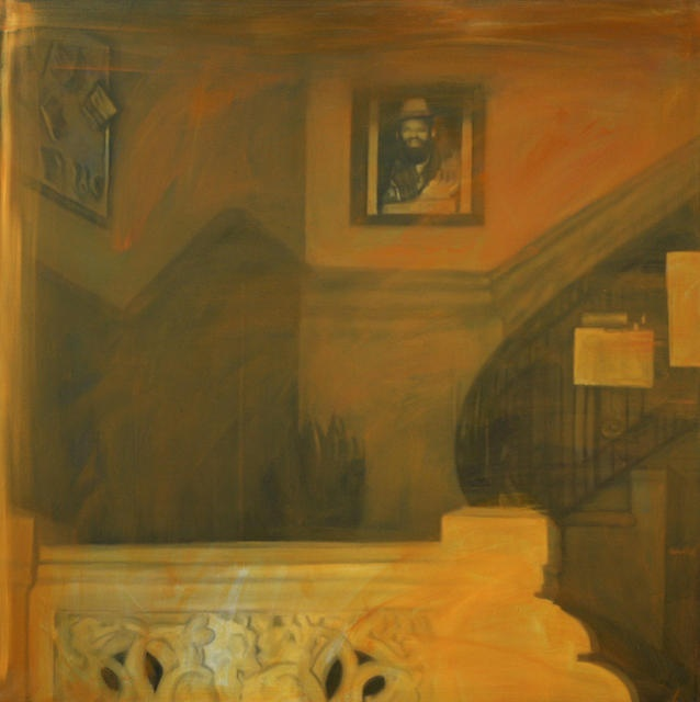 Ramón Serrano, Interiores de la Habana No.1, 2011, oil on canvas, 78x78in © Courtesy Corkin Gallery #travel