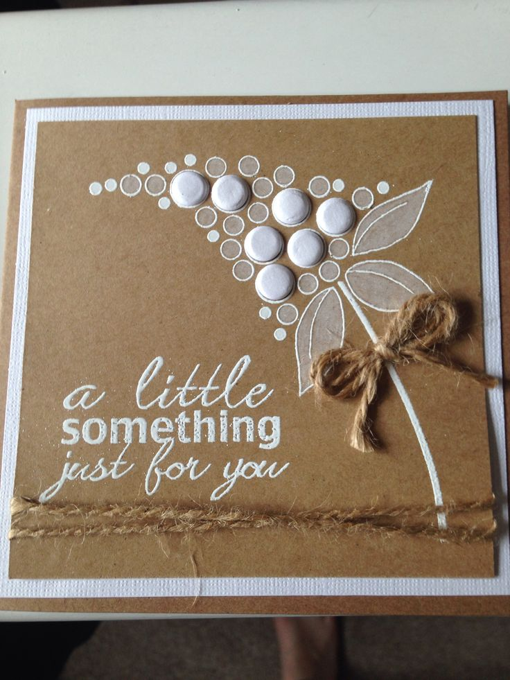 Bubble Bloom just for you card... love the white on kraft