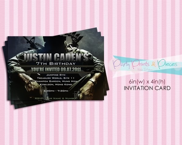 Party Prints & Pieces: Call Of Duty Black Ops DIY Printable Invitation Card