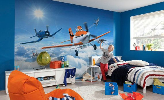 Disney Planes Photo Wall Mural Wallpaper By Euartcafe On Etsy 88 00