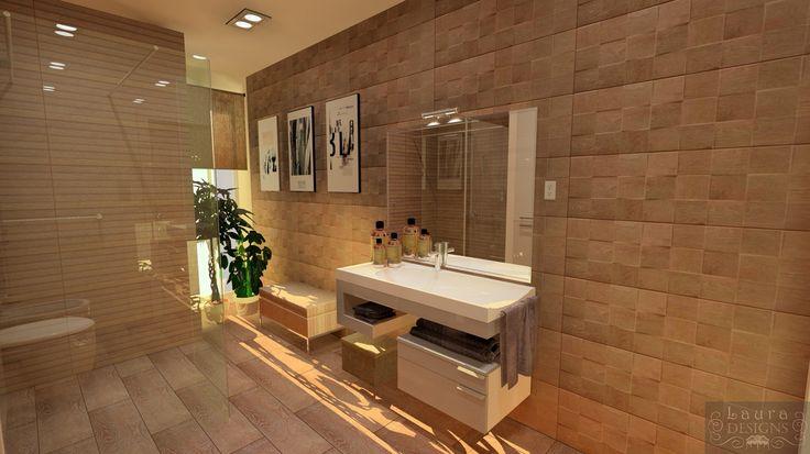 3D plan of bathroom by Laura Designs