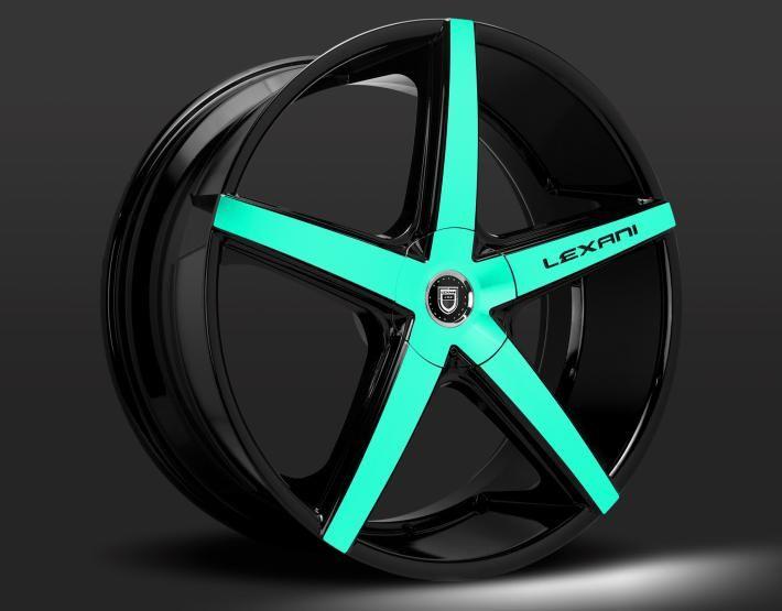 ------- Lexani Concave Series ------- LEXANI R-FOUR custom - teal and black finish