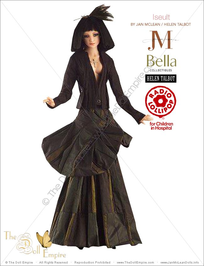 Iseult by Jan McLean Doll Artist and Helen Talbot Fashion Designer - Bella Collectibles - New Zealand Radio Lollipop Charity Auction
