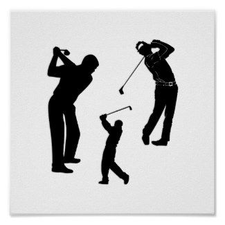 Golf Pro Poster Personalized