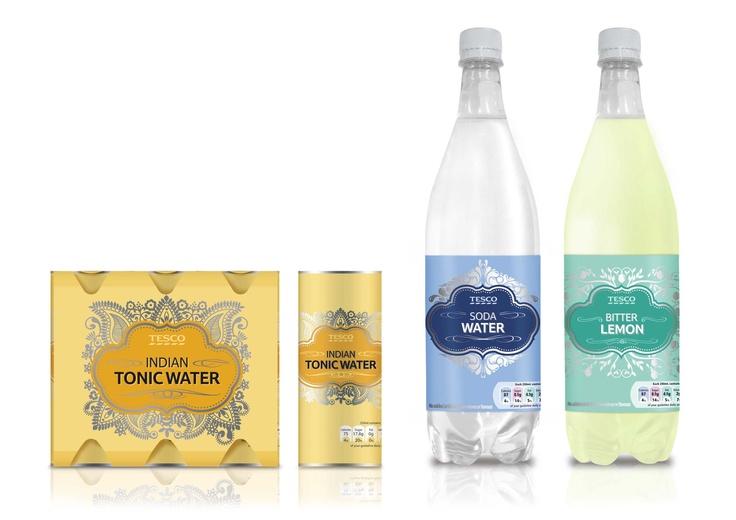 Tesco Tonic water #packaging