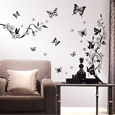 Wall Stickers Wall Decals, Flowers Home Decor Quotes PVC Wall Stickers 2085421…