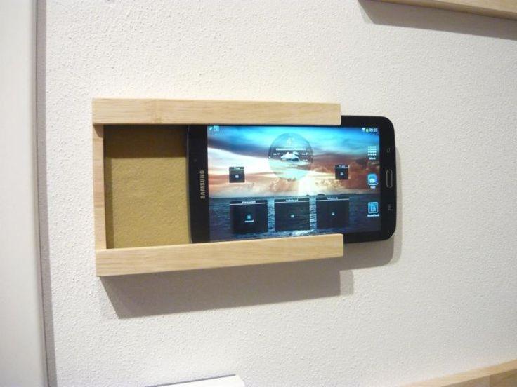 Exklusive Ipad Tablet Wandhalterung Aus Massivholz Diy
