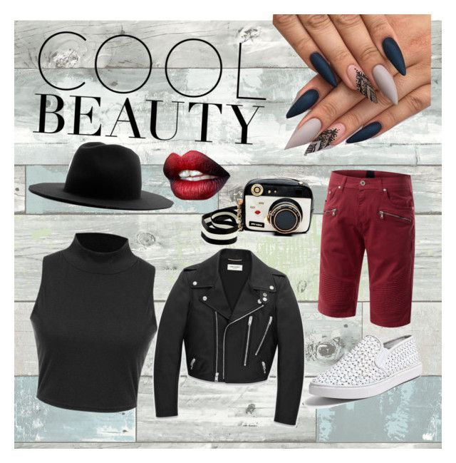 """Cool Beauty"" by eisa09 on Polyvore featuring WallPops, Steve Madden, Betsey Johnson, Études and Yves Saint Laurent"