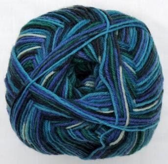 Hot Socks Stripes 4-fach superwash - Aqua stripes 1661-608, 75% Merino superwash by ColorfullmadeShop on Etsy