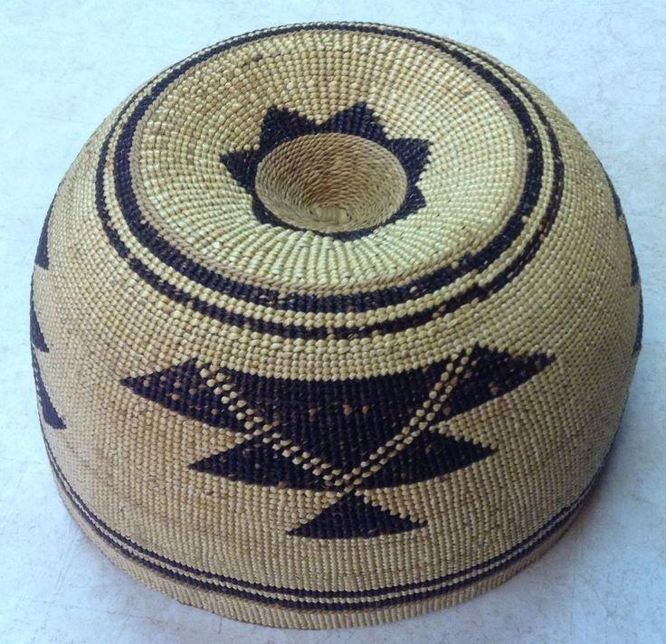 Native American Indian Basket - Hupa Hat - Northern California