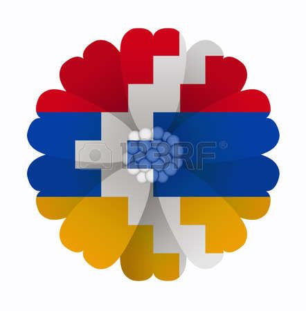 illustration of flower Flag Nagorno Karabakh Republic photo