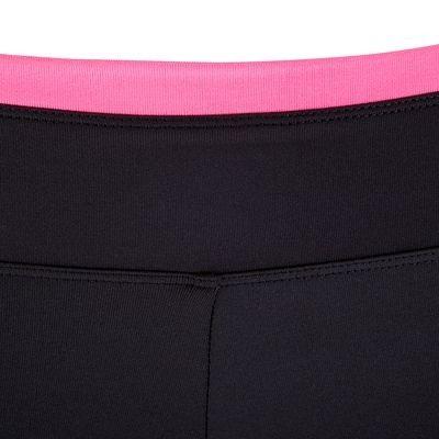 Pantaloni Fitness, Ginnastica, Danza - Leggings 7/8 BREATHE nero-rosa DOMYOS - Abbigliamento palestra