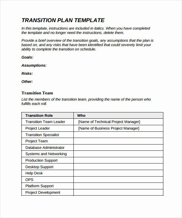 Business Transition Plan Template Lovely Transition Plan Template 9 Download Documents In Pdf How To Plan Free Word Document Business Plan Template Free