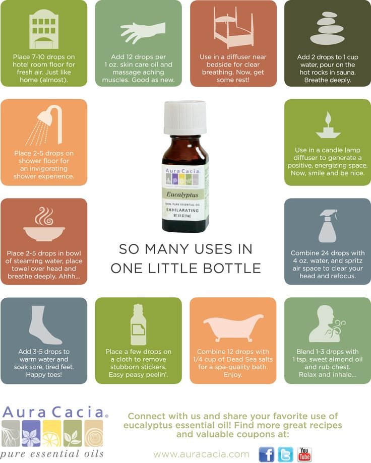 Simple ways to use eucalyptus essential oil.