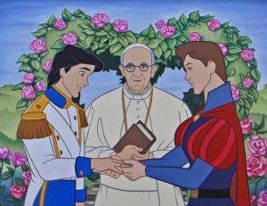 Profanity Pop: Il papa benedice il matrimonio tra due principi Disney e la Bella addormentata si ubriaca con Frida Kahlo. FOTO