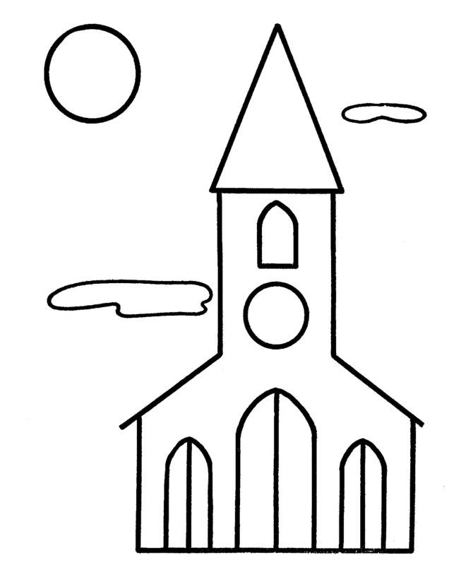 childrens church coloring pages - photo#13