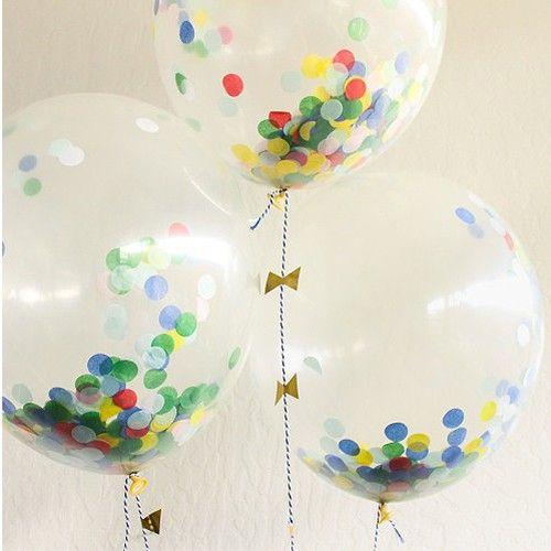 meri meri transparante ballonnen met confetti (8st) | ilovespeelgoed.nl