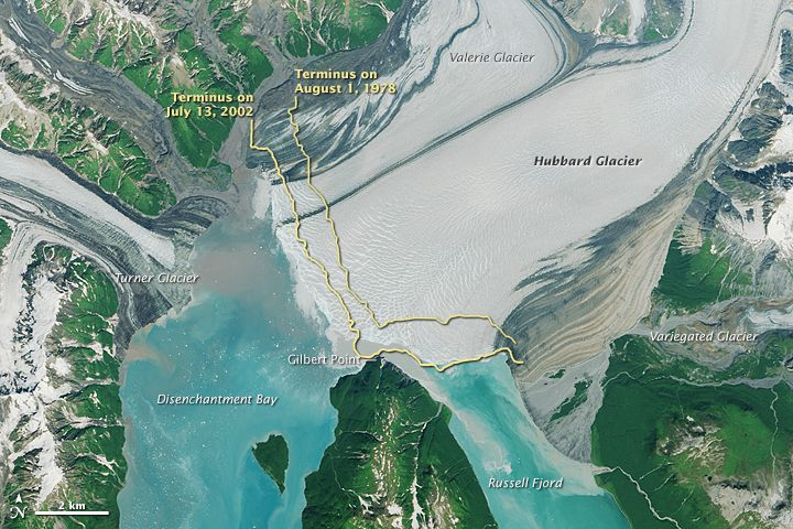 The Advance of Hubbard Glacier: This tidewater glacier in southeast Alaska is not like the others; it's advancing, and threatens to transform a fjord into a lake.