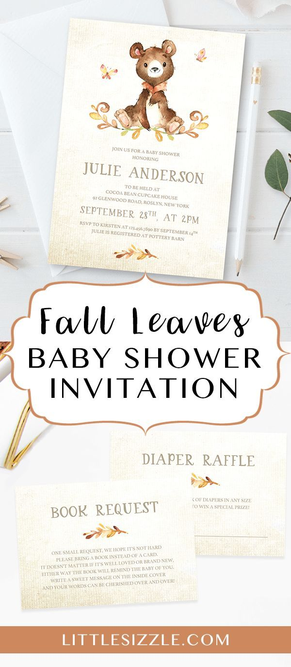 fall baby shower invitation template by littlesizzle invite your