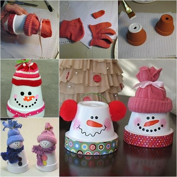 Creative Ideas - DIY Adorable Terracotta Pot Snowman | iCreativeIdeas.com Follow Us on Facebook --> https://www.facebook.com/iCreativeIdeas