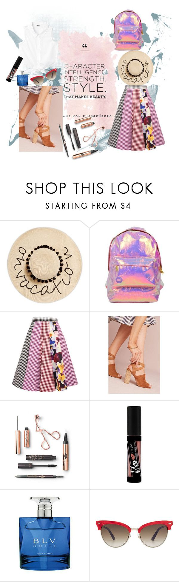 """Road Trip Style"" by bebebelabee on Polyvore featuring August Hat, Miss Selfridge, Christopher Kane, Matiko, Charlotte Russe, Bulgari and Gucci"