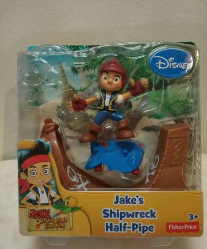 Disney Jake's Shipwreck Half Pipe New in package 3+ Fisher Price Disney Jake Neverland Pirates New purchased for resale by Keywebco Video inspected during shipping Shipped fast and free from the USA The item for sale is pictured and described on this page. The stock photo may include additional items for display purpose only - which will not be included. Packages may show wear or be opened if the battery is replaced or during the inspection.   https://nemb.ly/p/ryXfEvv=UW Happily published…