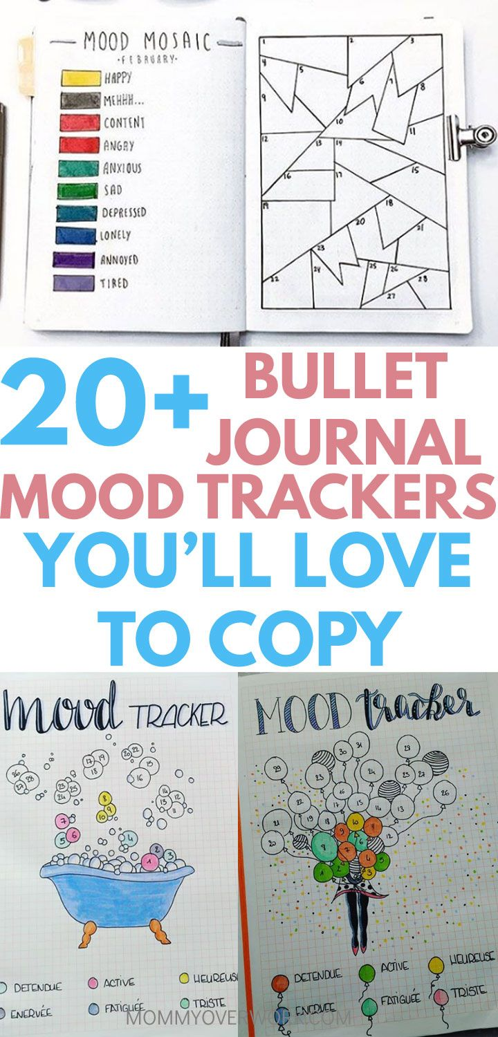 20+ ADORABLE Bullet Journal Mood Trackers