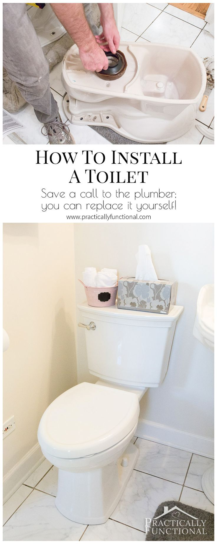 Install A Toilet How To Install A Toilet House Pinterest Bathroom Toilet And