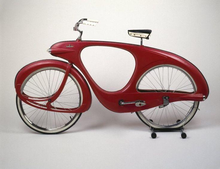 Benjamin G. Bowden (American, born England 1907-1998). Spacelander Bicycle, Prototype designed 1946; Manufactured 1960. Fiberglass, metal, glass, rubber, fox fur, 36 x 40 x 18 in.  (91.4 x 101.6 x 45.7 cm). Brooklyn Museum, Marie Bernice Bitzer Fund, 2001.36. Creative Commons-BY (Photo: Brooklyn Museum, 2001.36_SL1.jpg)