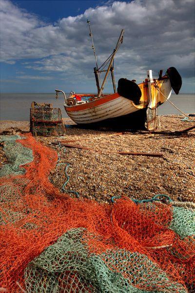 Fishing boat on Aldeburgh Beach, Suffolk   Gary Homer, East Coast Images, UK