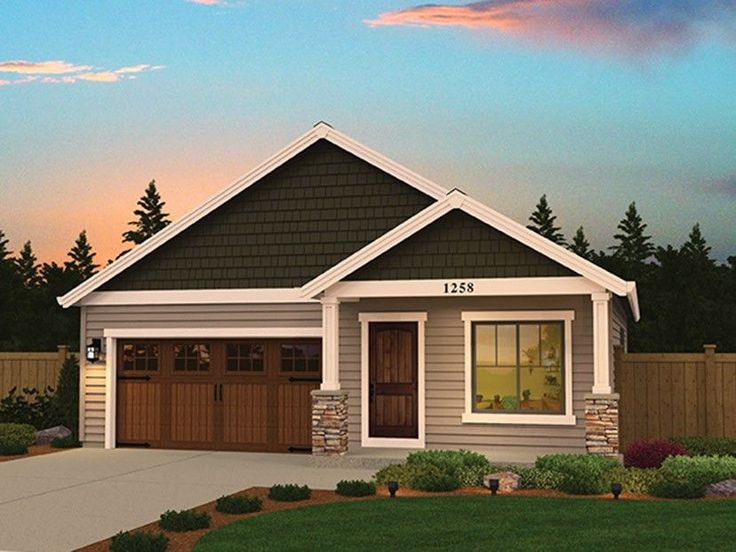 Ranch home plan with 1258 square feet and 3 bedrooms from for Www dreamhomesource com